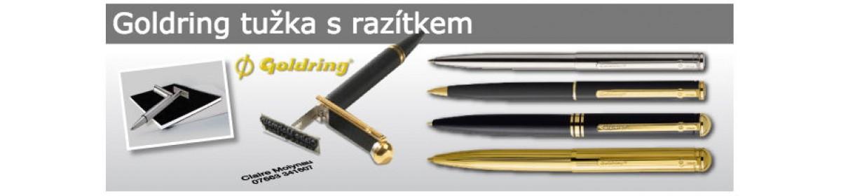 Goldring, tužka s razíktem, pero s razítkem